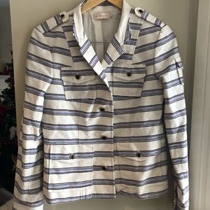 ❤️❤️ Tory Burch 10 jacket stripes button up